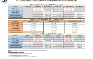 MODIFICATION PLANNING DU 15/12/20 au 20/01/21